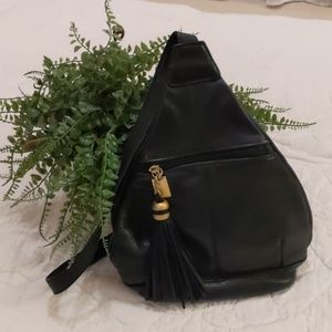 Handbags - Black Tignanello Leather shoulder bag